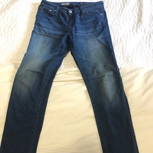 "AG jeans ""premiere skinny straight"" hardly worn"